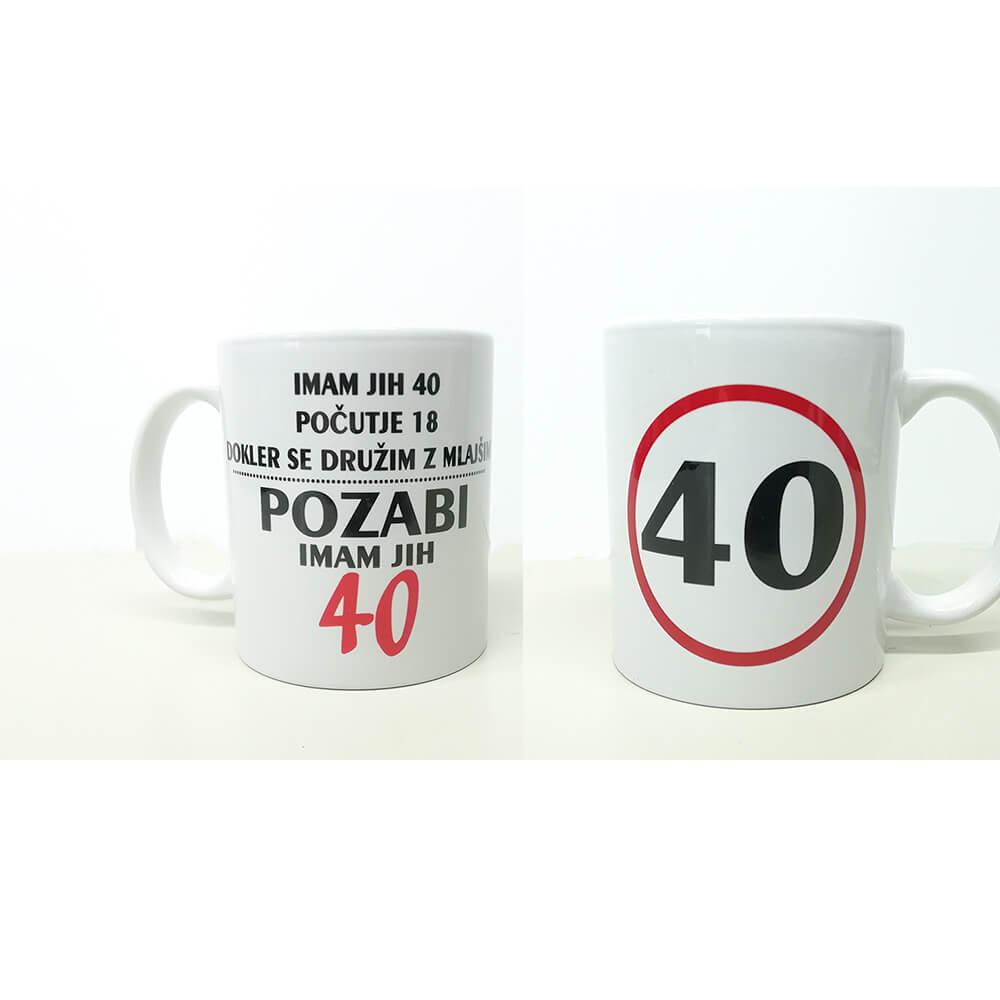 40, zrela leta, darilo, tisk, unikat, rerum, skodelica, jubilej, rojstni_dan