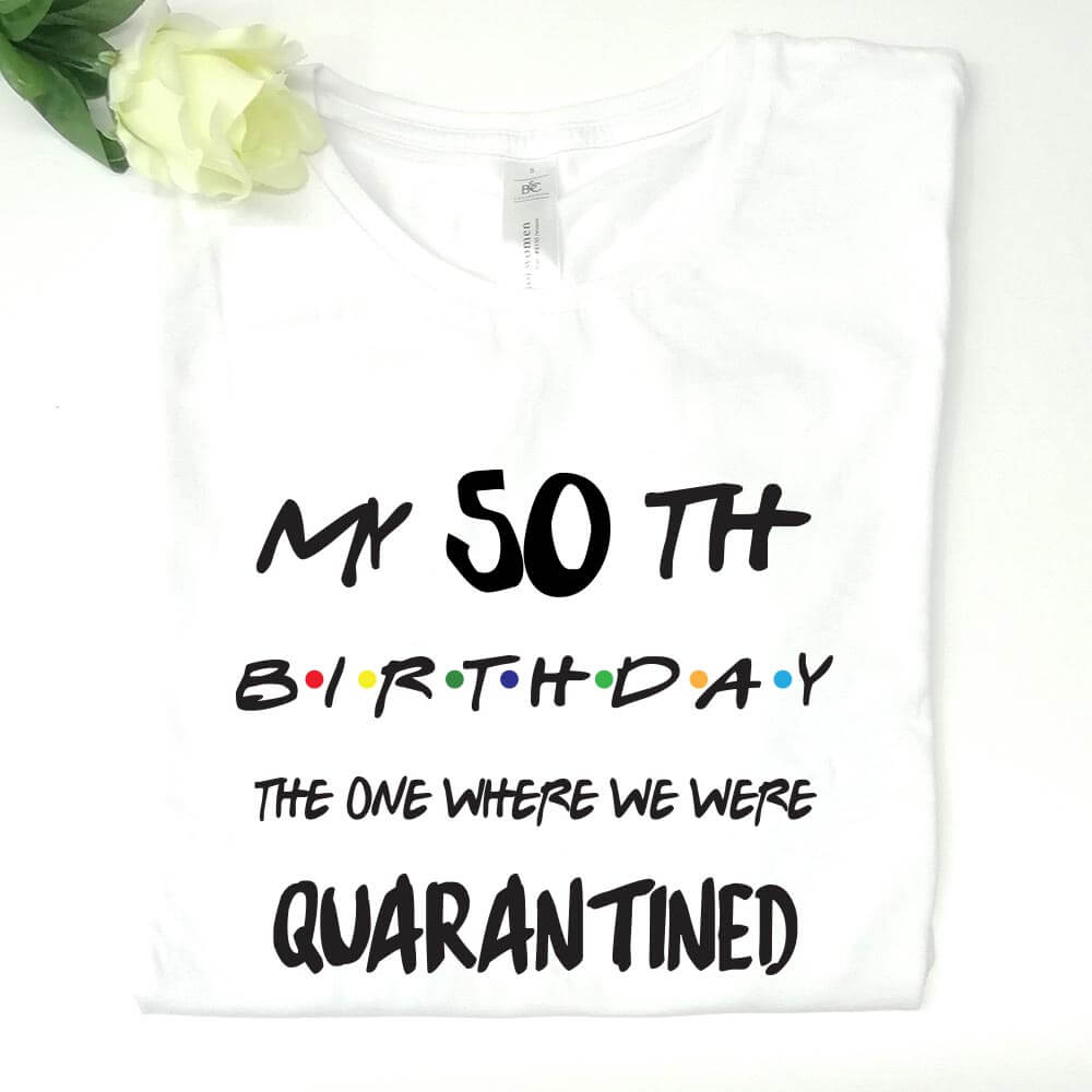 covid, 50 rojstni dan, abraham, jubilej, rojstni dan, darilo, tisk majica