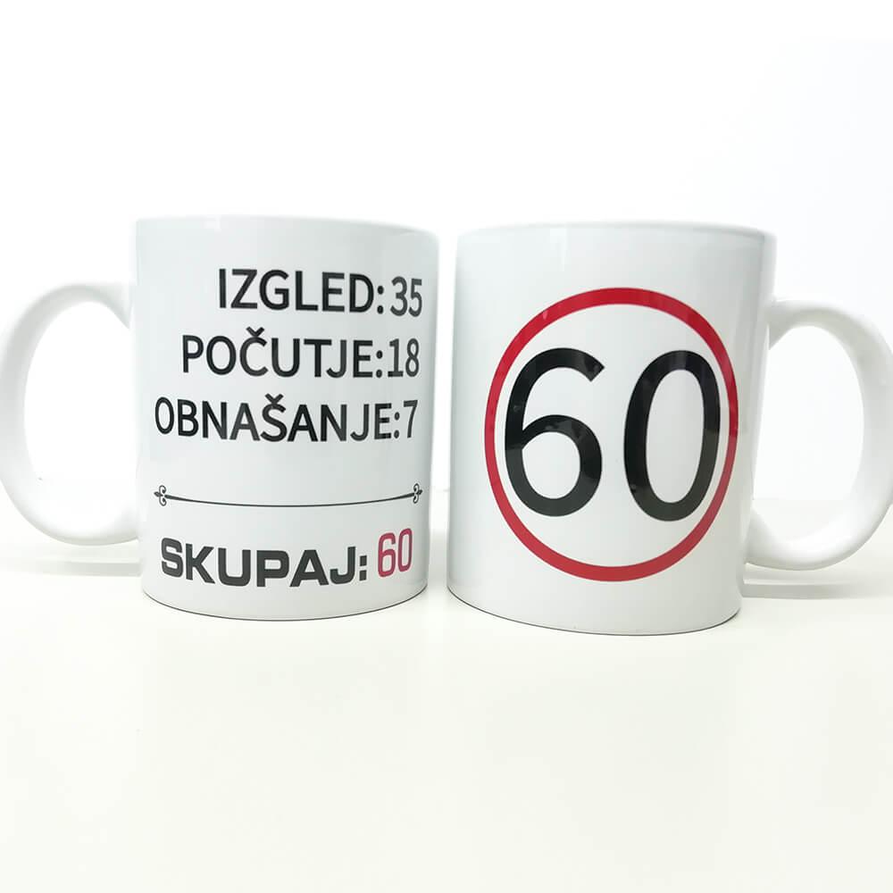 60, zrela leta, darilo, tisk, unikat, rerum, skodelica, jubilej, rojstni_dan