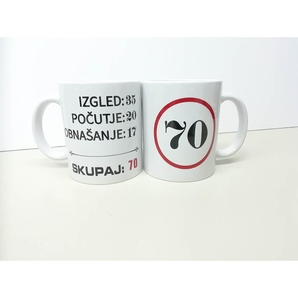 70, zrela leta, darilo, tisk, unikat, rerum, skodelica, jubilej, rojstni_dan