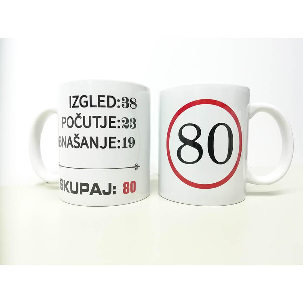 80, zrela leta, darilo, tisk, unikat, rerum, skodelica, jubilej, rojstni_dan