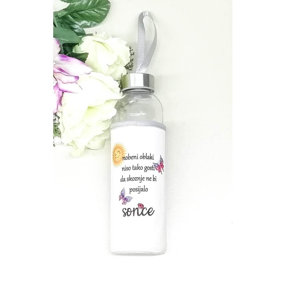 pozitivna_misel, flaška, steklenica_z_neoprenom, bidon, darilo, tisk, flasa za darilo, rojstni_dan,