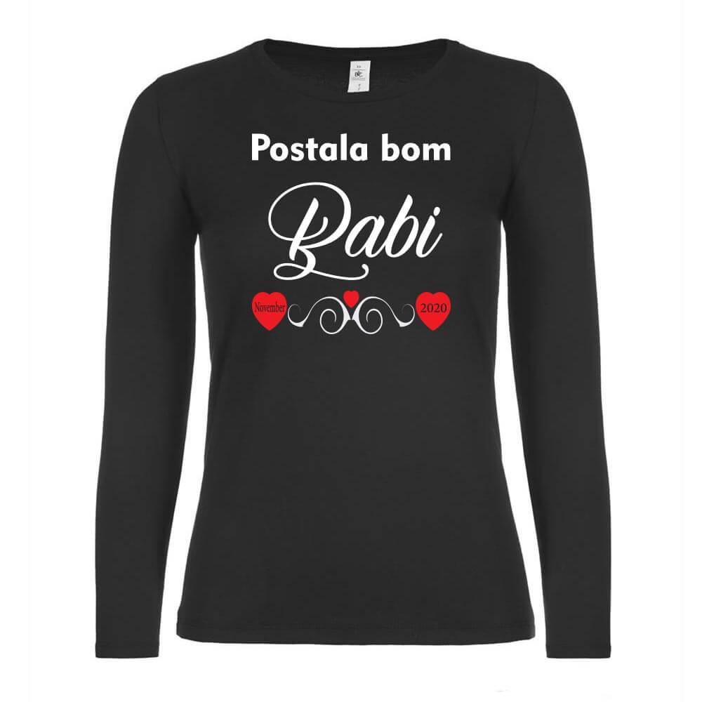 babi, postala_bom_babi, darilo, tisk, rerum, unikatna_majica, majica_z_veselo_novico, babi, oma, nona,