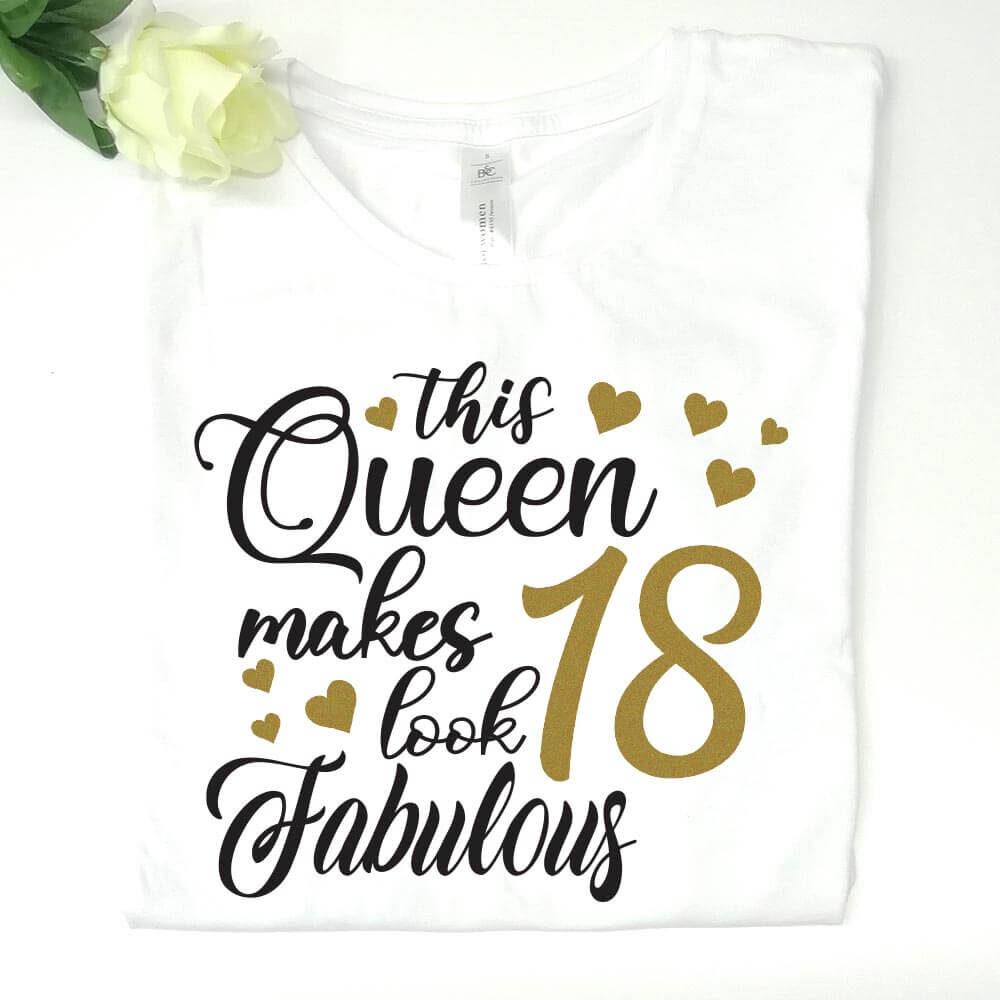18 rojstni dan, majica za rojstni dan, darilo, tisk, theis_queen, rerum