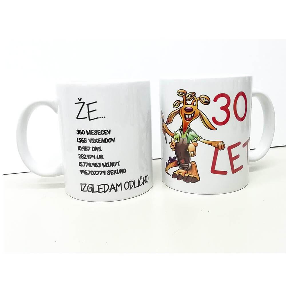 že 30 let, 30 rojstni dan, darilo, 30, skodelica, keramična_skodelica, mug, rerum, tisk
