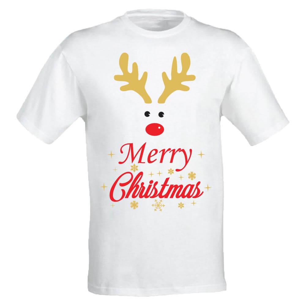 Družinski komplet merry christmas deer, družinski komplet, božični družinski komplet, darilo, majica, božično darilo, tisk, unikat, jelenček,