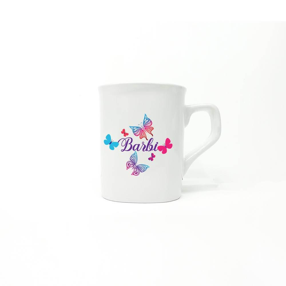 skodelica, salica, personalizirana keramična skodelica, personalizirani izdelek, darilo, tisk, rerum,unikat, metulji