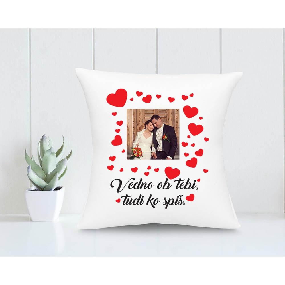 blazina vedno ob tebi, darilo za valentinovo, darilo, love, srčki z vzglavnikom, vzglavnik za valentinovo