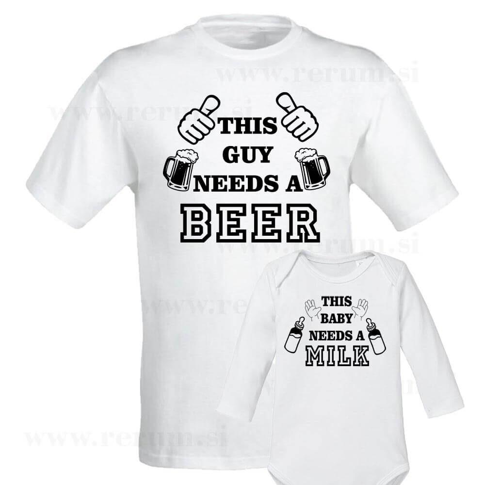 this baby needs a milk, bodi , darilo, rerum, tisk, otroški_bodi, darilo, this guy needs a beer