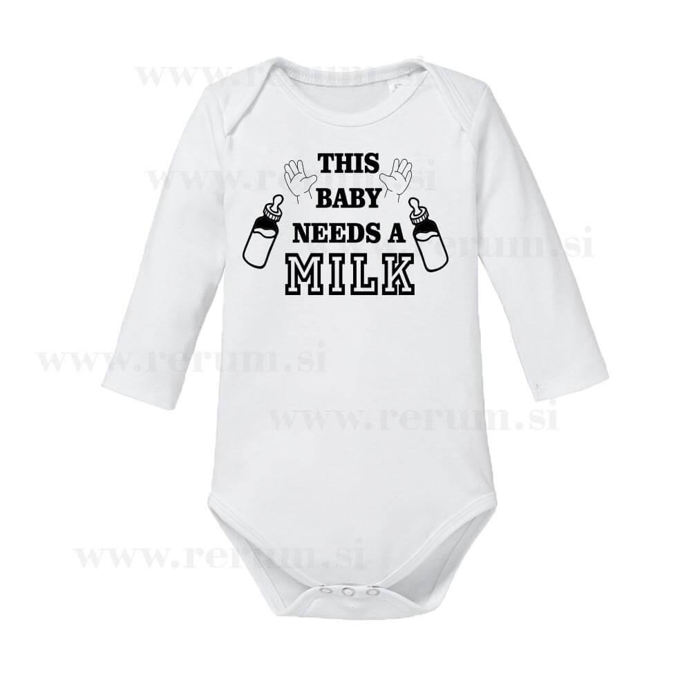 this baby needs a milk, bodi , darilo, rerum, tisk, otroški_bodi, darilo