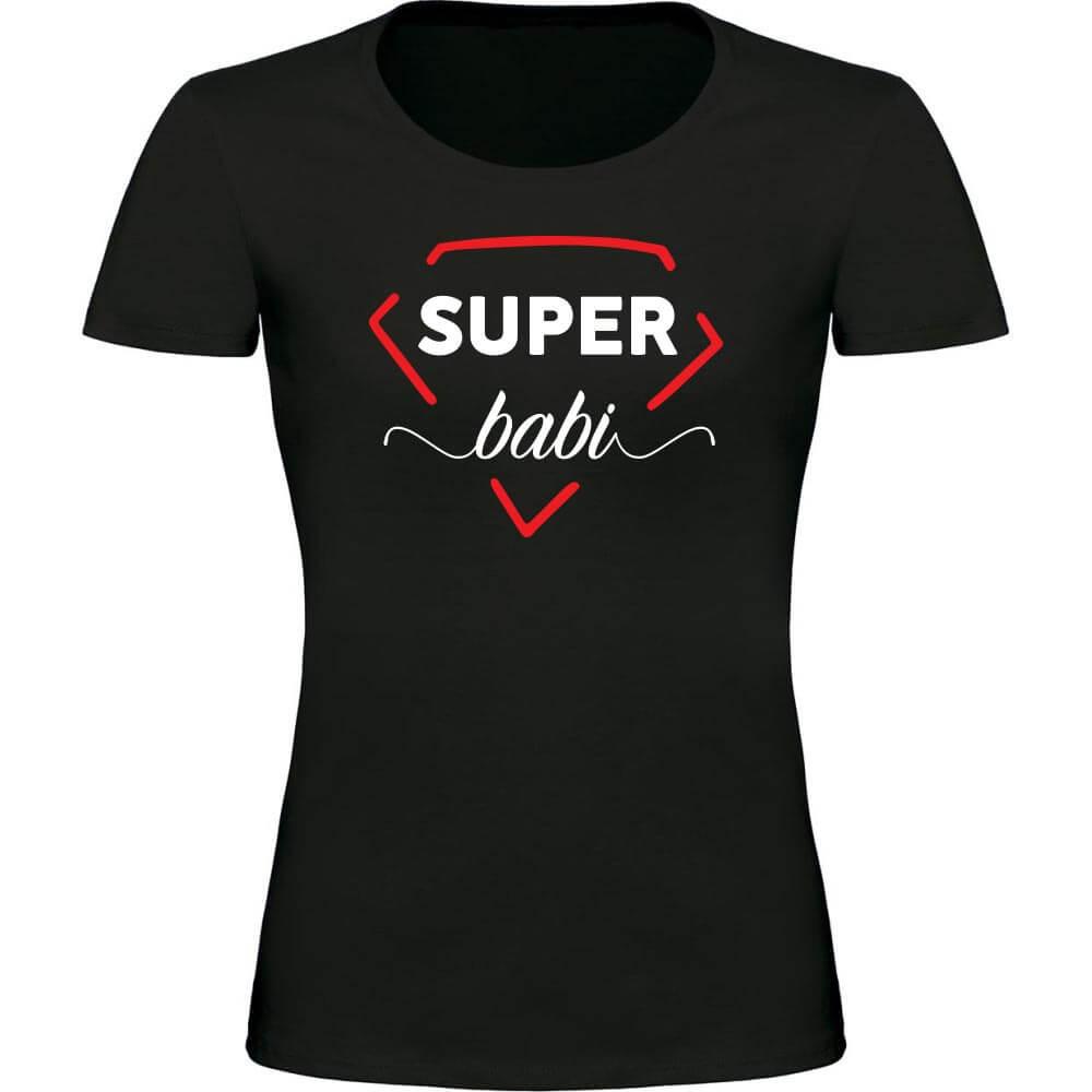 super babi, babi, majica_za_babi, darilo, tisk, rerum, unikat, majica rerum, majica za super babico