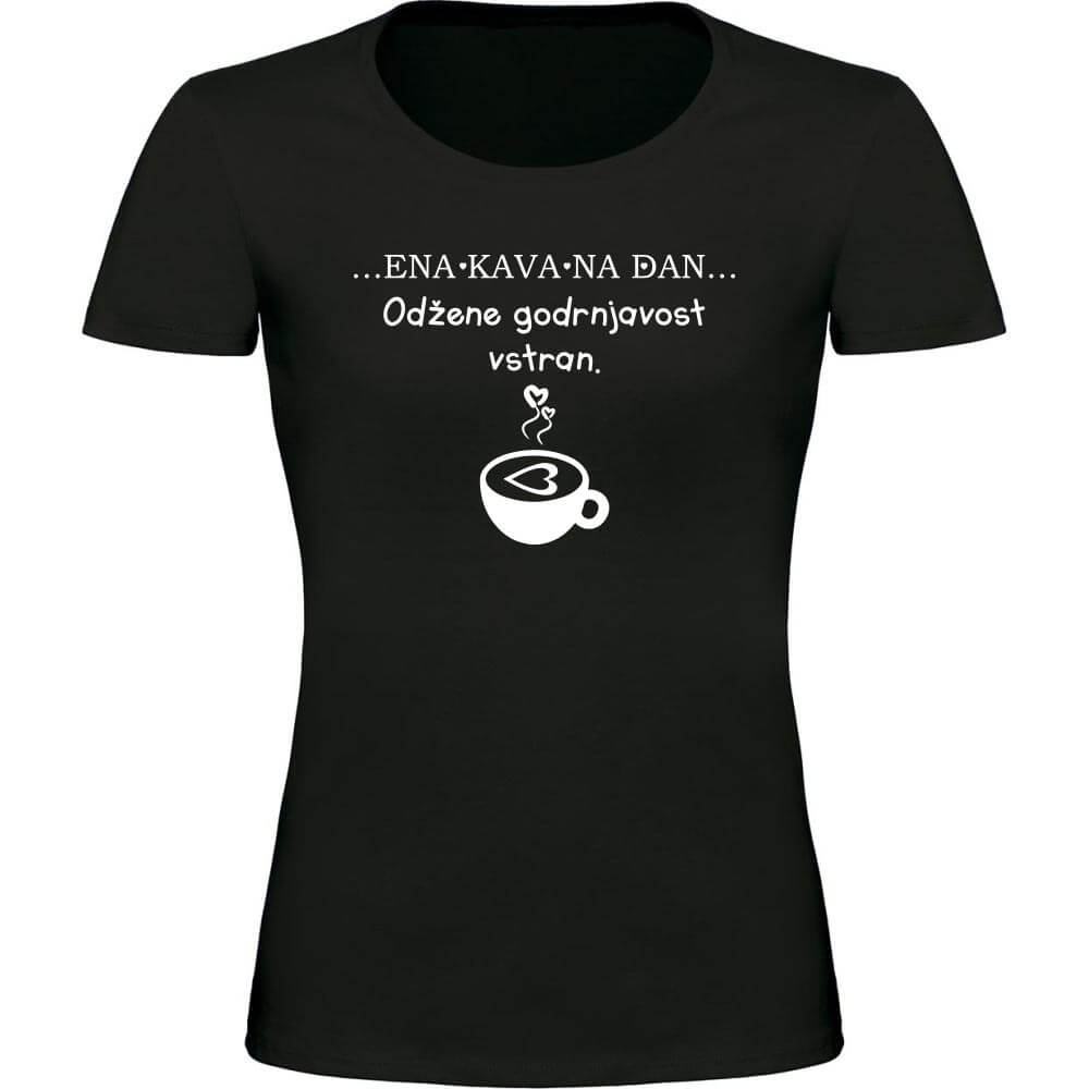 ena kava na dan, kava, majica, darilo, tisk,
