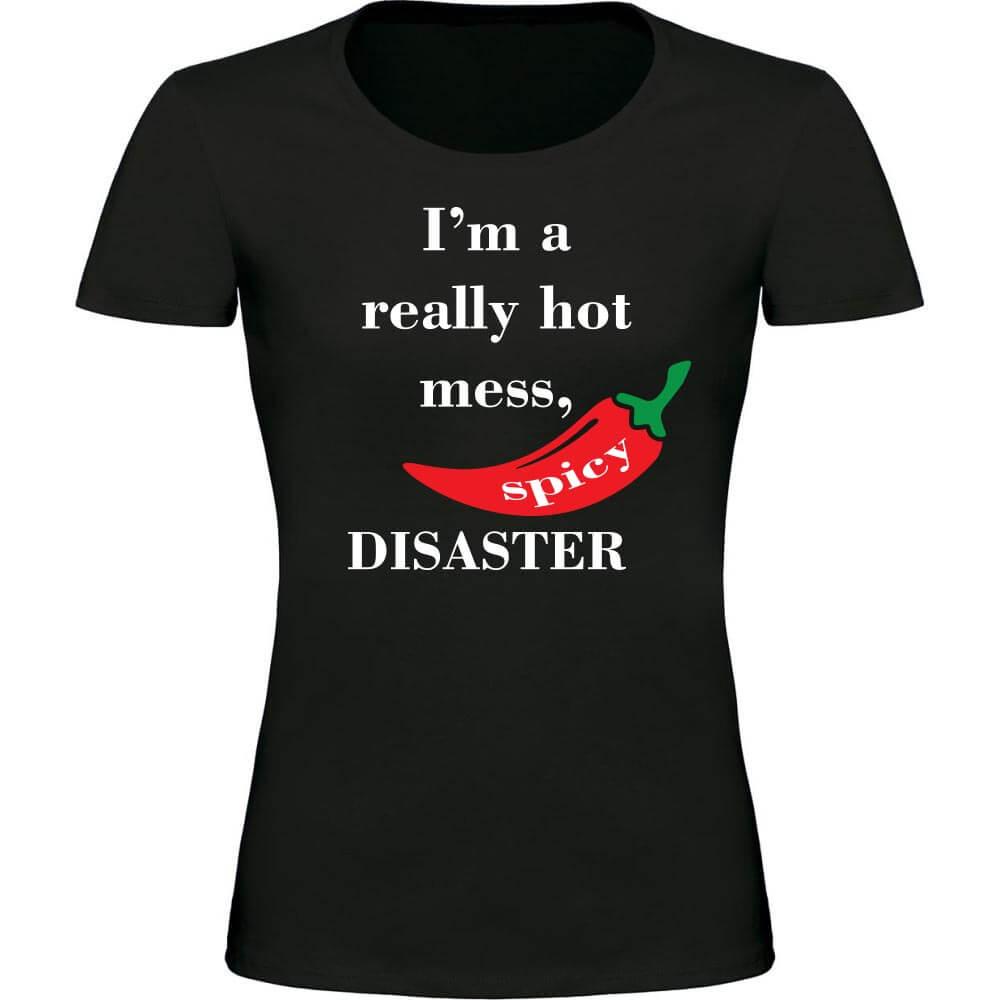 spicy disaster, darilo, smešna majica, rerum, zabavna_majica_rerum, tisk