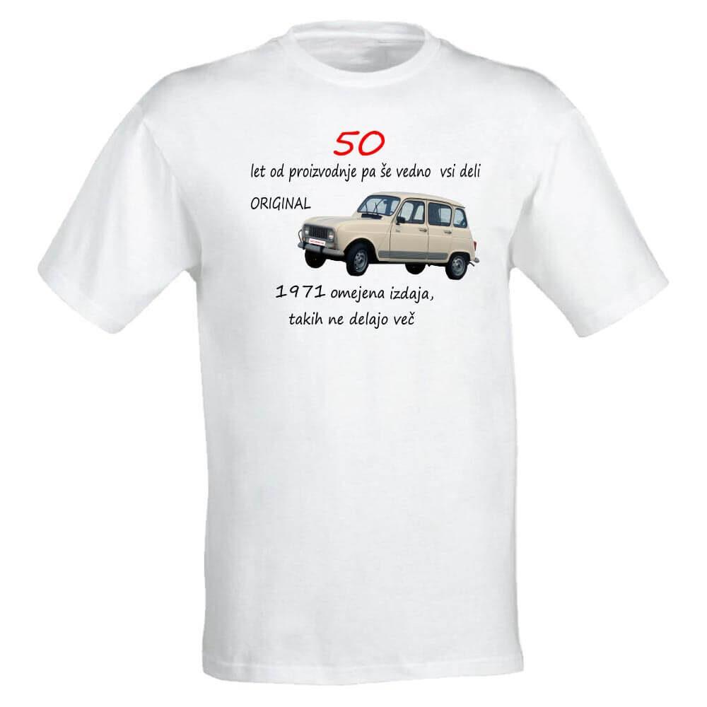 50_let, abraham,. 580 let od proizvodnje, originalnih 50, majica, darilo, rojstni dan, rerum