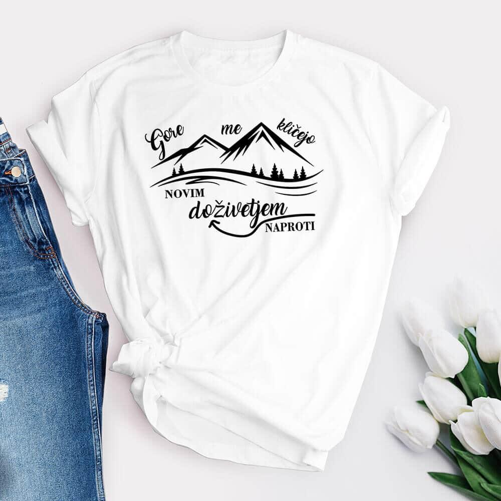 gore me kličejo, majica za ljubitelje gora, darilo, tisk rerum, unikatna_majica, gore