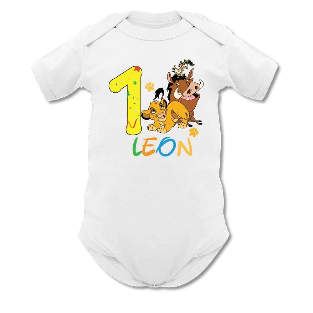 otroški bodi, bodi za rojstni dan, levji kralj, simba, bodi z simbo, darilo, tisk, rerum