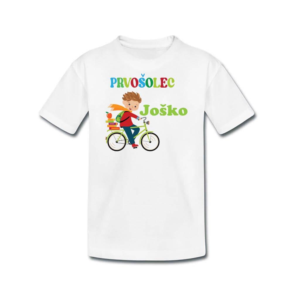 prvošolec, majica, darilo, tisk, rerum, fant, šola, majica za v prvi razred,