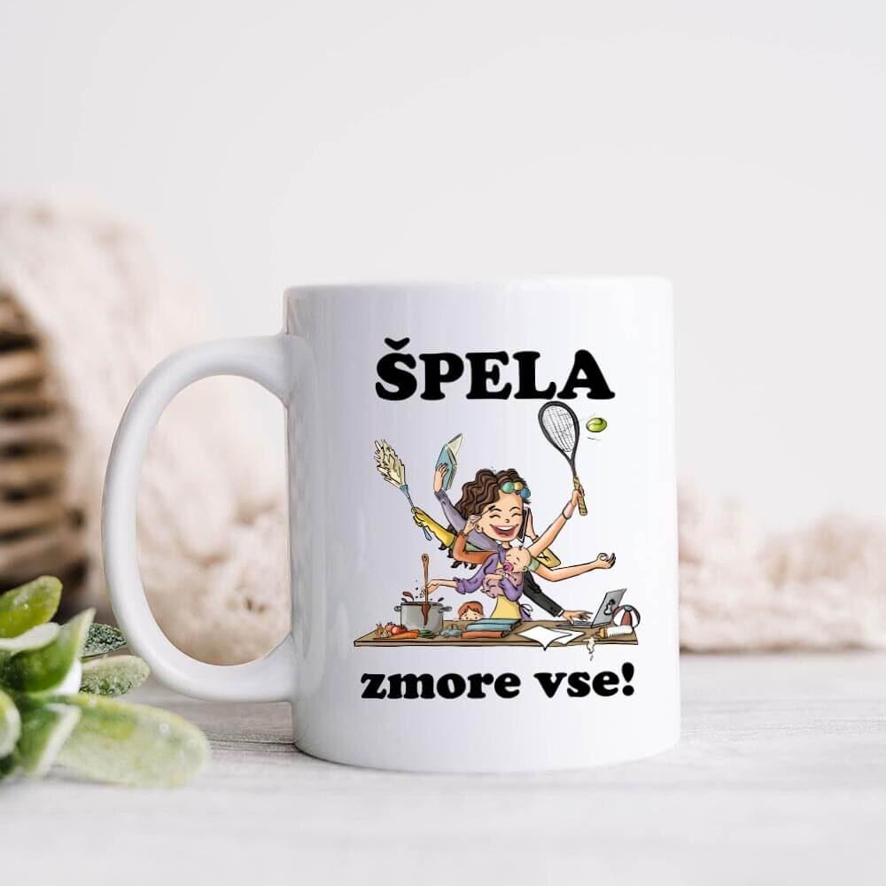personalizirana_skodelica, darilo, tisk, rerum, špela_zmore_vse, darilo_za_njo, šalica, kava_šalica, čaj_šalica