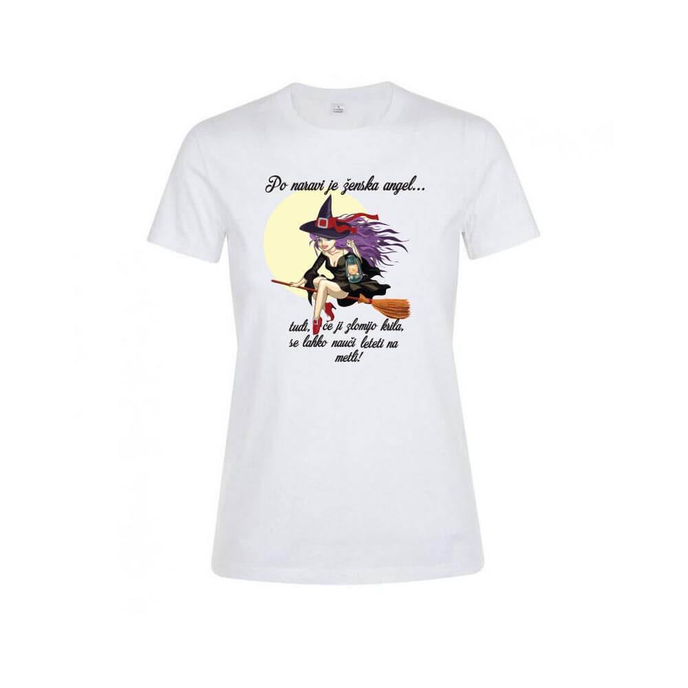 po naravi je ženska angel, majica za njo, noč čarovnic, majica, tisk, rerum, darilo, rojstni dan,