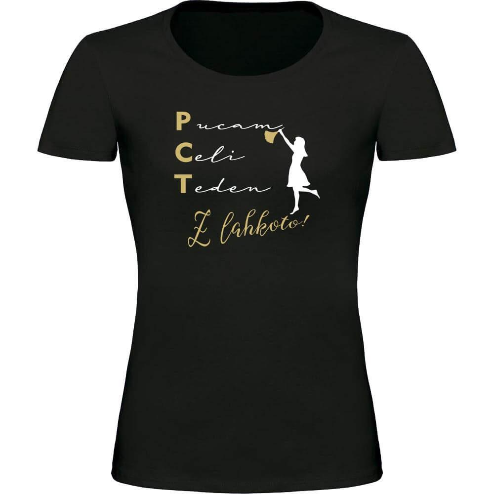 pucam celi teden z lahkoto, pct majica, smešna majica, zabavna majica, darilo, tisk, rerum
