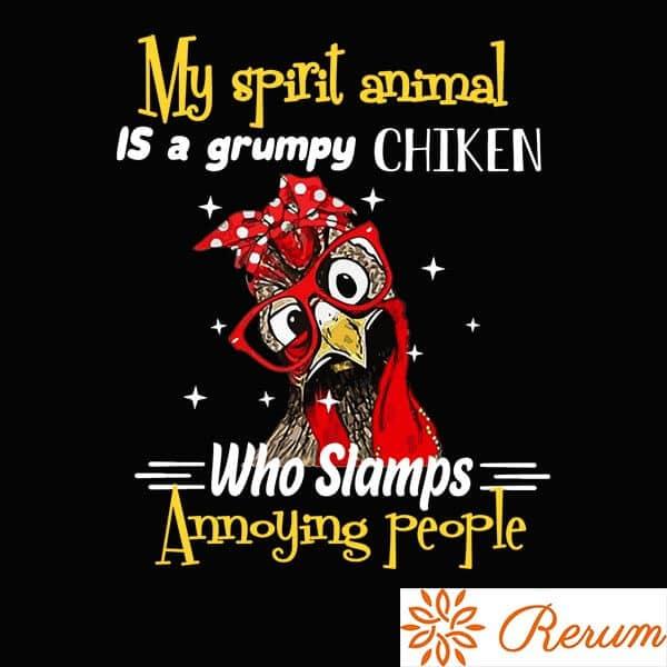 my spirit animal is, tshit, majica, darilo, tisk, rerum, smesna majica, majica, chiken, majica za darilo,